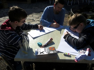 drawing in Estepona