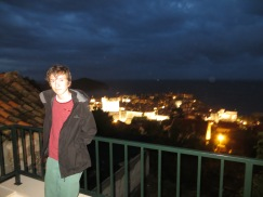 Jake on his 13th B'Day with beautiful night view of Dubrovnik