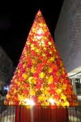 Main Mdina Glass Christmas tree in Valletta