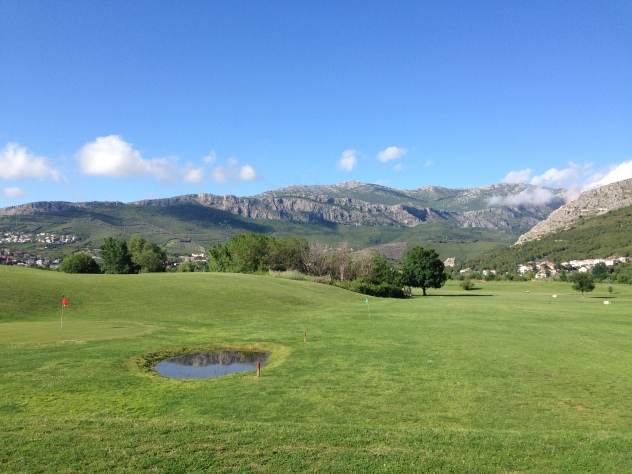 Stunning backdrop for the little golf course.