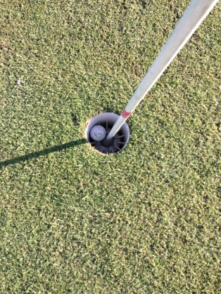 Grant managed a hole in one on the shortest hole, 90m